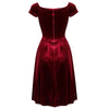 Claret Red Wine Velour Crossover Midi Dress - Pretty Kitty Fashion
