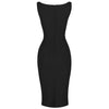 Black 40s Bodycon Sleeveless Hollywood Wiggle Dress - Pretty Kitty Fashion