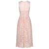 Soft Salmon Pink Audrey Embroidered Lace 50s Swing Bridesmaids Dress