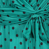 Jade Green Black Polka Dot Cap Sleeve Fit And Flare Midi Dress - Pretty Kitty Fashion