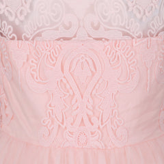Chi Chi Nude Pink Baroque Cocktail Tea Dress