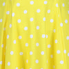 Yellow And White Polka Dot 50s Audrey Swing Dress