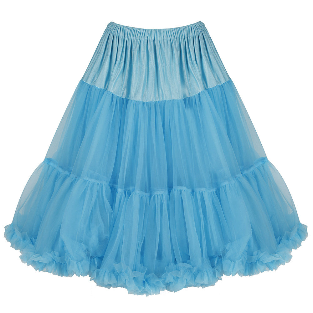 EXTRA VOLUME Turquoise Blue Net Vintage Rockabilly 50s Petticoat Skirt - Pretty Kitty Fashion