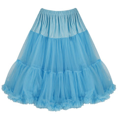 EXTRA VOLUME Turquoise Blue Net Vintage Rockabilly 50s Petticoat Skirt
