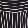 Black and White Striped 3/4 Sleeve Swing Dress - Pretty Kitty Fashion