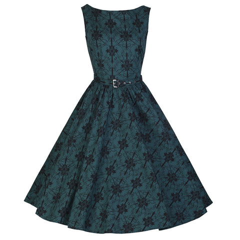 Green Printed Swing Sleeveless Dress - Pretty Kitty Fashion