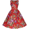 Burnt Orange Floral Audrey Swing Dress - Pretty Kitty Fashion