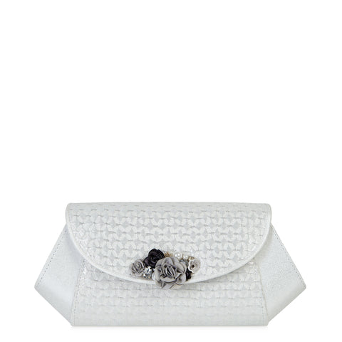 Ruby Shoo Porto Silver Clutch bag