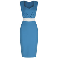 Luxury Turquoise Pencil Dress - Pretty Kitty Fashion