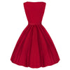 Pretty Kitty Red Cotton Audrey Dress