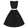 Pretty Kitty Black White Cut Out Swing Dress