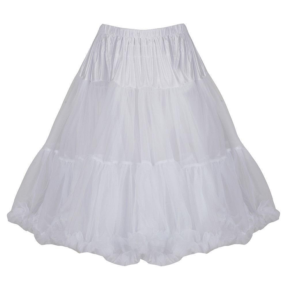 EXTRA VOLUME White Net Vintage Rockabilly 50s Petticoat Skirt - Pretty Kitty Fashion