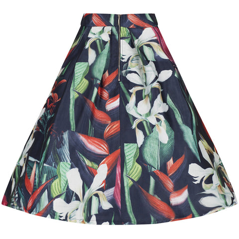 Black Floral 3D Skirt - Pretty Kitty Fashion
