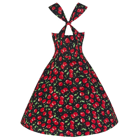 Pretty Kitty Black Cherry Swing Dress