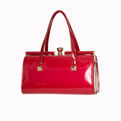 Red Retro Patent Handbag