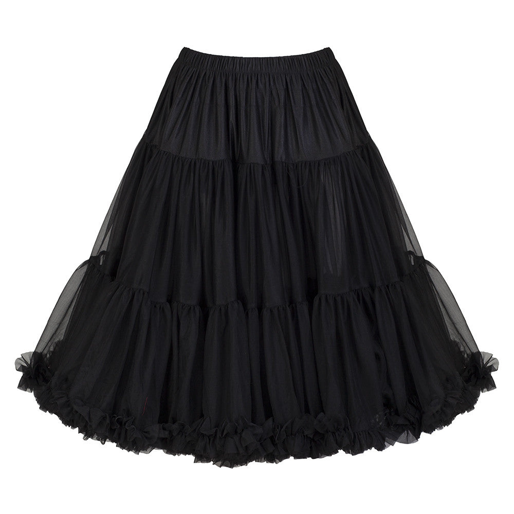EXTRA VOLUME Black Net Vintage Rockabilly 50s Petticoat Skirt - Pretty Kitty Fashion