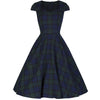 Vintage Woven Tartan Swing Dress