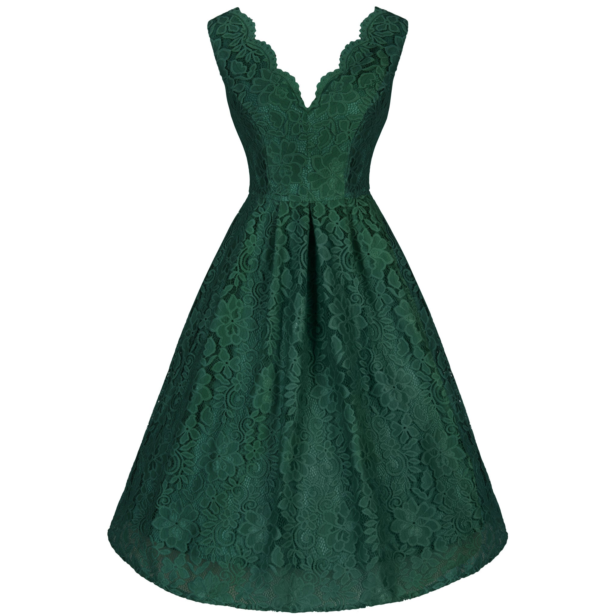Emerald Lace Dress