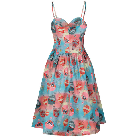 Multi Floral Summer Strap Swing Dress