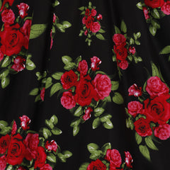 Black and Red Roses Halterneck Rockabilly Dress