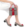 Ruby Shoo June Black and White Stripe Pump Court Shoes - Pretty Kitty Fashion