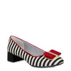 Ruby Shoo June Black and White Stripe Pump Court Shoes