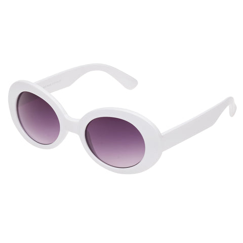 White Vintage Retro Sunglasses