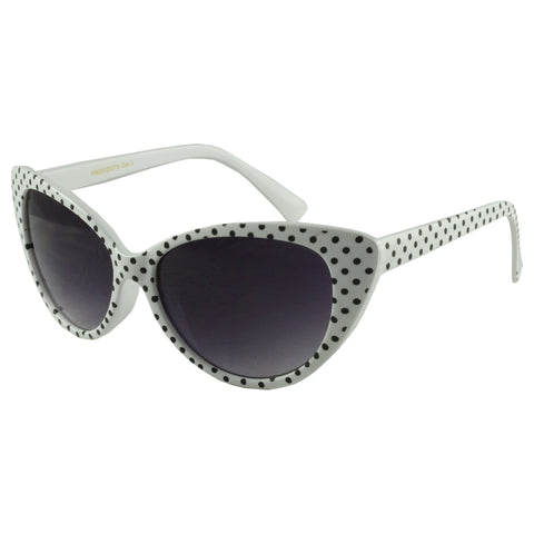 White Polka Dot Vintage Sunglasses
