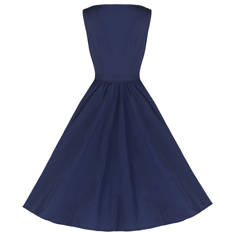 Pretty Kitty Navy Cotton Audrey Dress