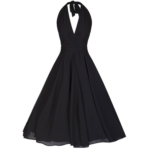 Black Chiffon Marilyn Dress