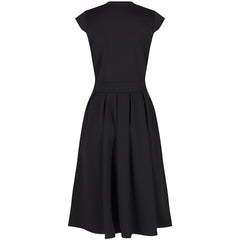 Black Luxury Party Pleated Cocktail Dress