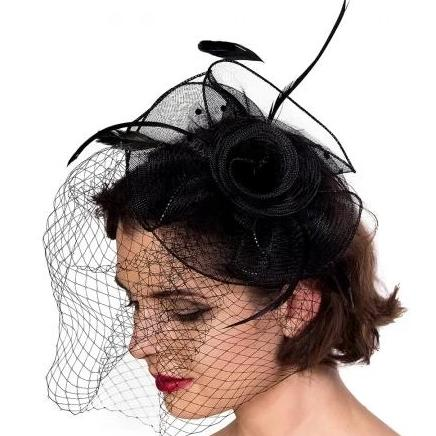 Black Vintage Passion Fascinator - Pretty Kitty Fashion
