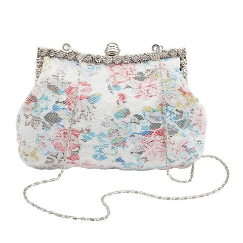 White Lace Pouch Handbag