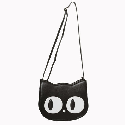 Black Cat Clutch/Shoulder Bag