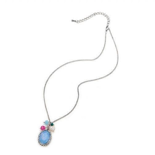 Blue Charm Silver Necklace