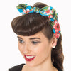 Blue Floral Bandana Headscarf - Pretty Kitty Fashion