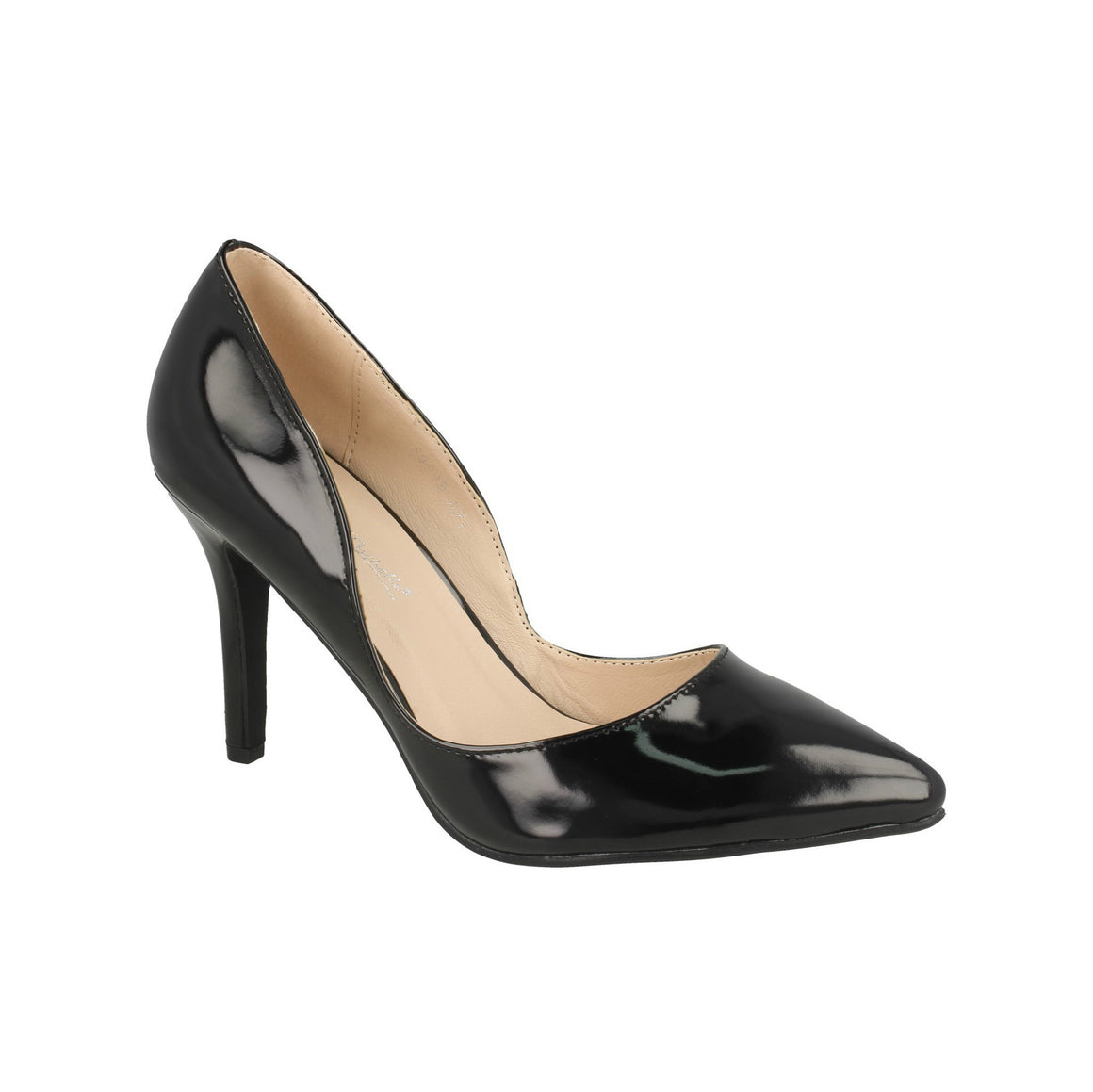 Black Patent Stiletto Party Heels