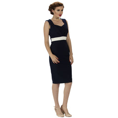 Navy Blue Luxury Pencil Dress