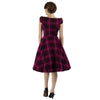 Purple Woven Tartan 50s Swing Tea Dress - Pretty Kitty Fashion