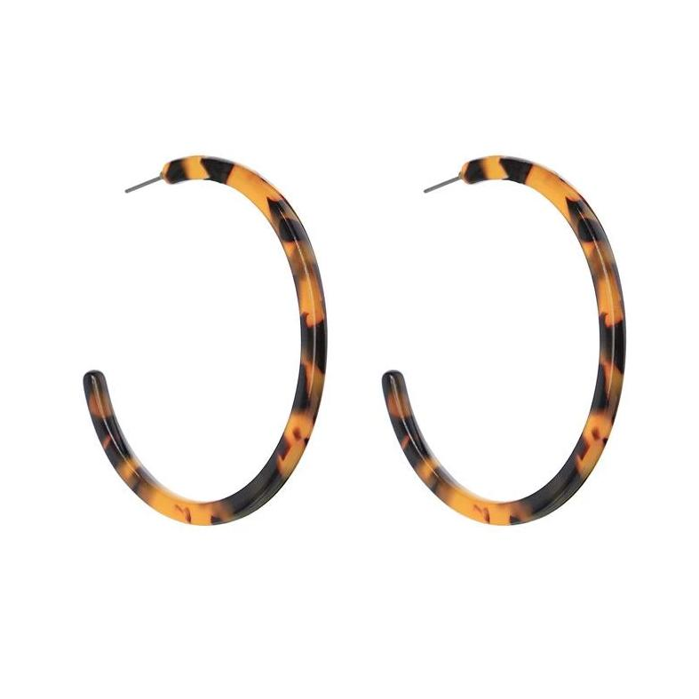 Tortoiseshell Hoop Earrings - Pretty Kitty Fashion