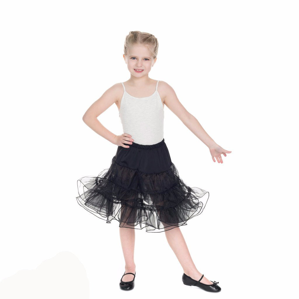 Little Kitty Girl's Black Petticoat Tutu - Pretty Kitty Fashion