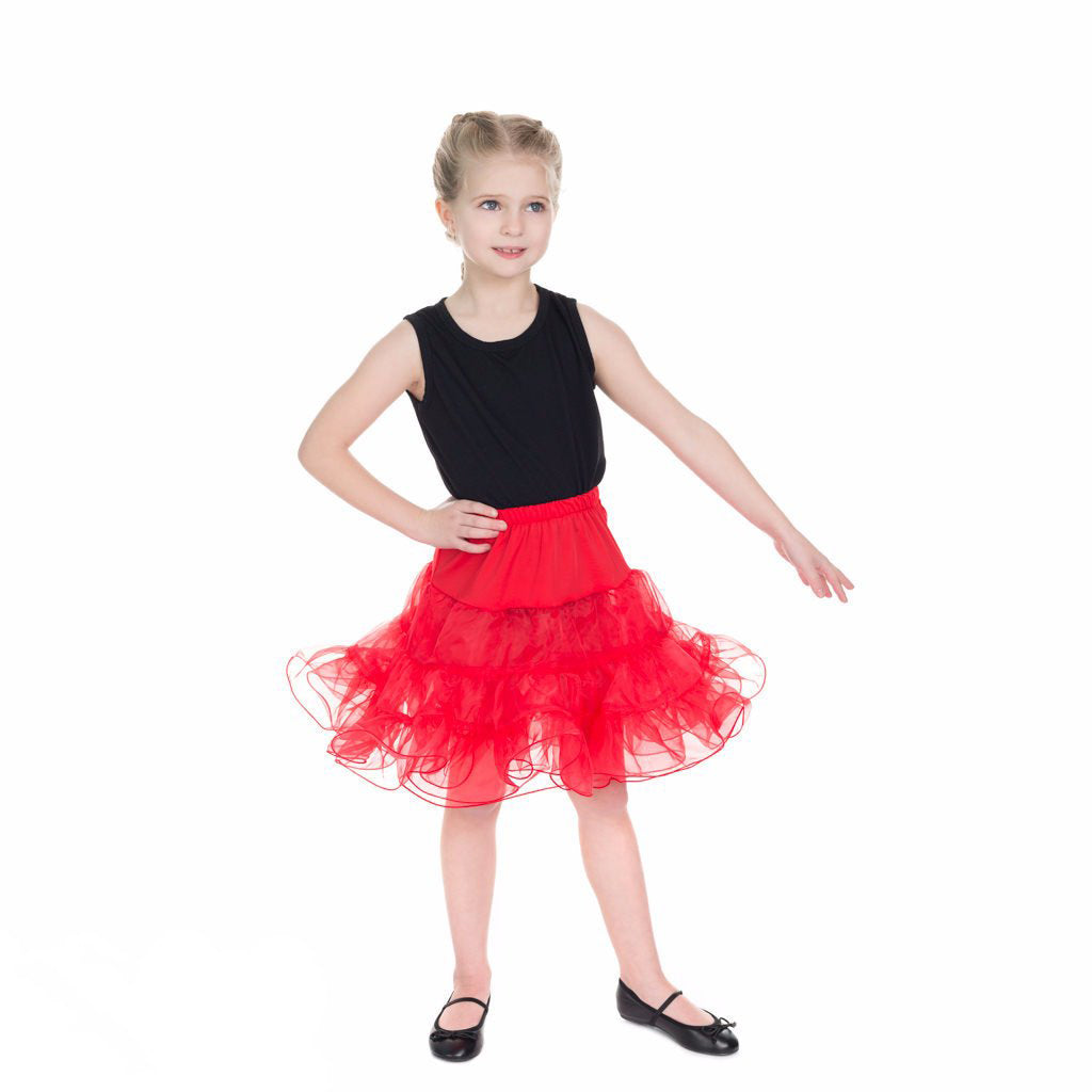 Little Kitty Girl's Red Petticoat Tutu - Pretty Kitty Fashion