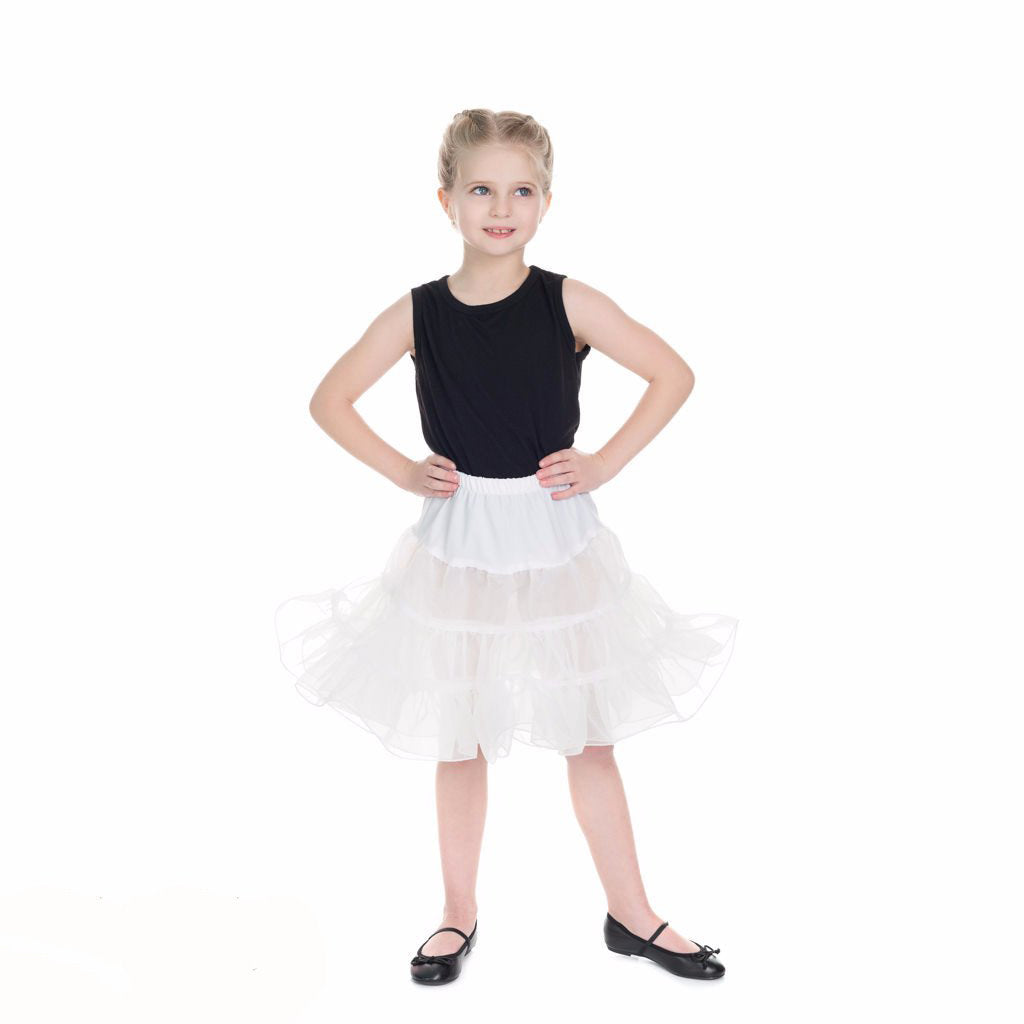 Little Kitty Girl's White Petticoat Tutu - Pretty Kitty Fashion