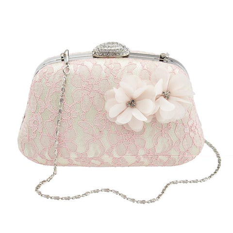 Pink Lace Corsage Bag