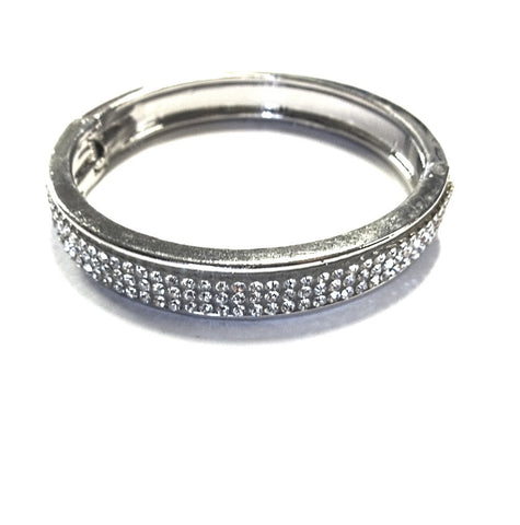 Silver Studded Crystal bangle