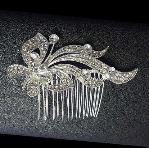 Crystal Diamante Butterfly Hair Comb