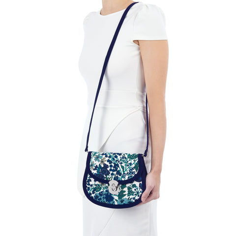 Ruby Shoo Monaco Blue Floral Bag