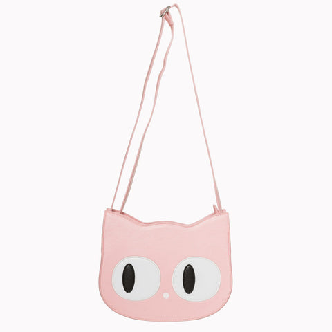 Pink Cat Clutch/Shoulder Bag