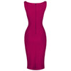 Amaranth Purple 40s Bodycon Sleeveless Hollywood Wiggle Dress - Pretty Kitty Fashion