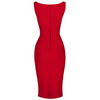 Red 40s Bodycon Sleeveless Hollywood Wiggle Dress